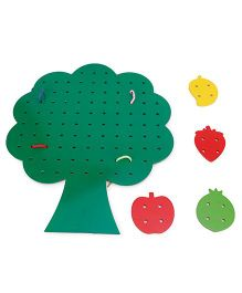 Alpaks Tree Shape Lacing - Green