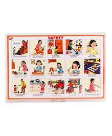 Alpaks Table Mat With Good Manners & Safety Print - Multi Color