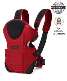 Babyhug First Blossom 3 Way Baby Carrier With Detachable Bib & Head Cushion - Red