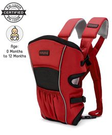Babyhug Embrace 2 Way Baby Carrier With Detachable Bib - Red