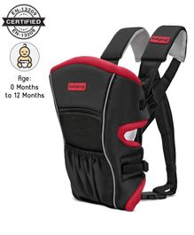 Babyhug Embrace 2 Way Baby Carrier With Detachable Bib - Red & Black
