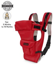 Babyhug Joy Bundle 4 Way Baby Carrier With Front Pocket - Red