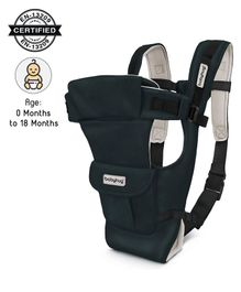 Babyhug Joy Bundle 4 Way Baby Carrier With Front Pocket - Navy Blue