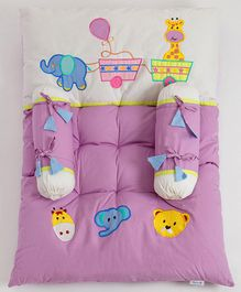 Blooming Buds Little Circus Printed Mattress - Purple