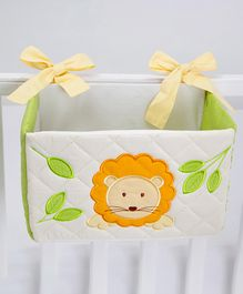 Blooming Buds Lion Printed Cot Tidy Bin - Green & Biege