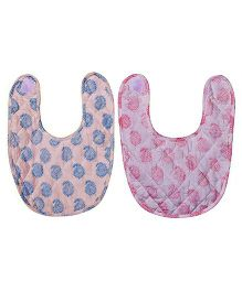 Mom's Home Organic Cotton Super Soft Bibs Pink Blue - Pack Of 2