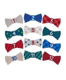 Pearhead Felt Bow Tie Stickers - 12 Pieces
