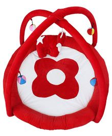 Amardeep Baby Play Gym Cum Play Mat - Red