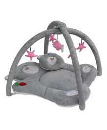 Amardeep Baby Play Gym Cum Bedding Teddy Design - Grey