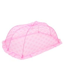 Babyhug Star Design Mosquito Net Large - Light Pink