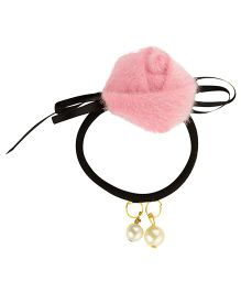Funkrafts Rose Ponytail Holder- Pink
