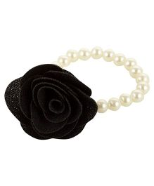 Funkrafts Pearl & flower Bracelet - Black