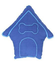 HouseThis The Best Friend Pure Cotton Cushion Cover - Blue