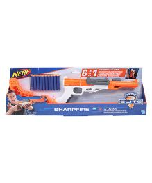 Nerf N-strike Sharpfire Blaster Gun - Orange White