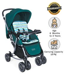 Babyhug 2 in 1 Rock and Roll Stroller Cum Rocker - Green