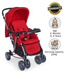 Babyhug 2 in 1 Rock and Roll Stroller Cum Rocker - Red