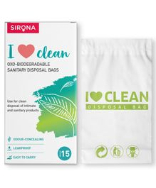 Sirona Sanitary & Diapers Disposal Bag Pack Of 1 - 15 Pieces