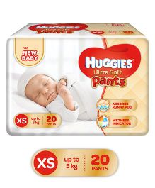 Huggies Ultra Soft Premium Pants For New Baby - 20 Pieces