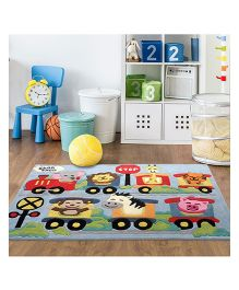 Little Looms Train Printed Rug - Multicolor