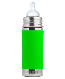 Pura Stainless Steel Infant Feeding Bottle Green - 325 ml
