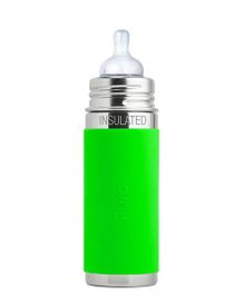 Pura Vaccum Insulated Infant Feeding Bottle Green - 260 ml