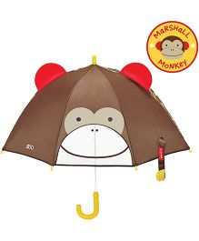 Skip Hop Little Kid And Toddler Umbrella Zoo Marshall Monkey Design - Brown