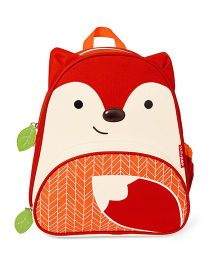 Skip Hop Backpack Fox Design Red & Cream - 12 inches