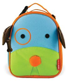 Skiphop Insulated Lunch Bag Puppy Design Blue Green - 9 inches