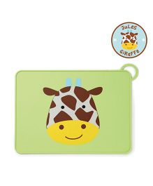 Skip Hop Baby Zoo Fold-and-Go Silicone Placemat Jules Giraffe Design - Green