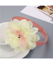 Little Palz Lace Flower Applique Hairband - Lemon