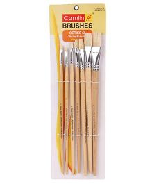 Kokuyo White Bristle-Flat Brush Pack of 7 - Beige