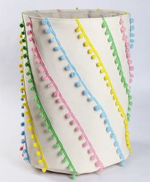 My Gift Booth Pom Pom Laundry Bag - Multi Color