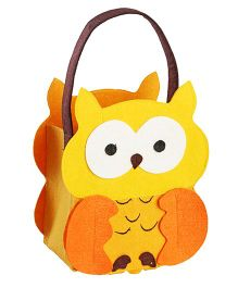 My First Booth Candy Bag Owl Design - Yellow Orange