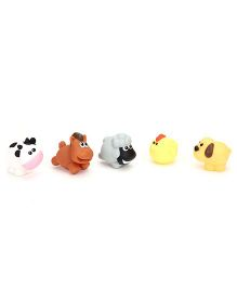 Winfun Farm Animal Bath Toys Set Of 5 - Multicolor