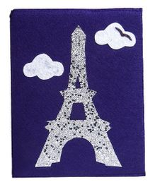 Li'Ll Pumpkins Eiffel Tower Design Big Diary - Purple