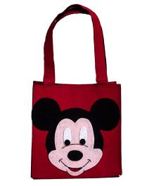 Li'Ll Pumpkins Cartoon Applique Felt Tote Bag - Red