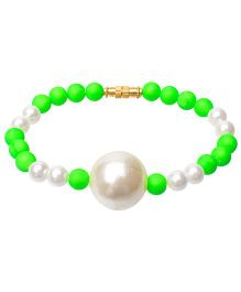 Daizy Beads Bracelet  - Green & White