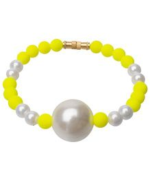 Daizy Beautiful Beads Bracelet - Yellow & White