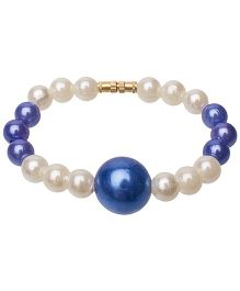 Daizy Pearls & Bead Bracelet - Blue & White