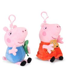 Peppa Pig Clip On Soft Toy Blue Orange Combo of 2 - 19 cm