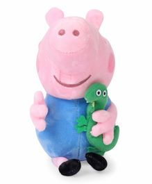 George Pig Soft Toy With Dianosaur - Height 19 cm