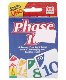Mattel Phase 10 Card Game - 108 Pieces (Packaging May Vary)