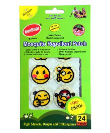 RunBugz Mosquito Repellent Patch Smiley Design - Pack of 24