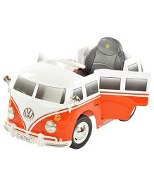 Toyhouse Battery Operated Volkswagen Bus Ride On - Orange & White