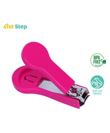 1st Step Easy Grip Baby Nail Clipper - Pink