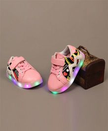 Little Maira Stylish LED Sneakers - Pink