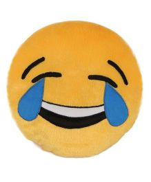 Deals India Laughin Tears Smiley Cushion Yellow - 35 cm