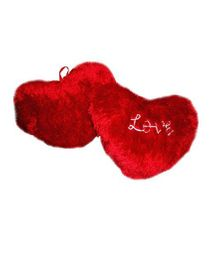 Deals India Valentine Heart Cushion Set - Red