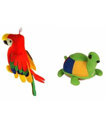 Deals India Musical Parrot And Tortoise Combo - Multicolor