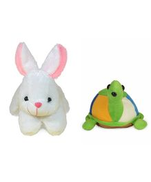 Deals India Rabbit & Tortoise Soft Toy - White Green